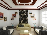 3d room interior realistic model