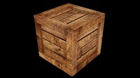 uv wooden crate asset 3ds