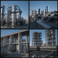 2 Mega Refineries (Textured)