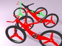 advance bicycle 3d obj
