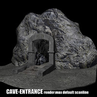 cave entrance,low poly