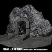 3d fantasy cave entrance model
