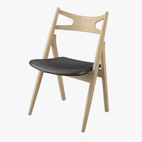 3d model sawbuck chair hans j