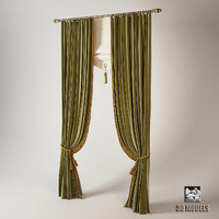 3dsmax classic curtains cabinet