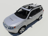 3d model subaru forester xt suv