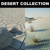 3d stones desert model
