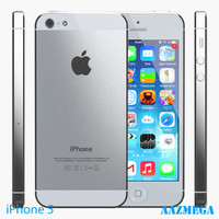 3d iphone 5 white model