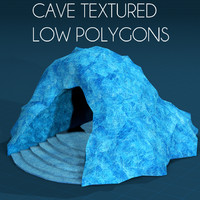 Cave Entrance Low Polygons