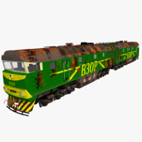 soviet diesel locomotive 2te116 3d model