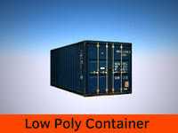 Low Poly Container