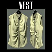woman s vest 3d obj