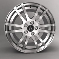 3ds max acura car alloy logo