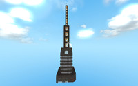 casino tower 3d obj