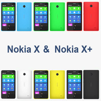 3d 3ds nokia x - colors