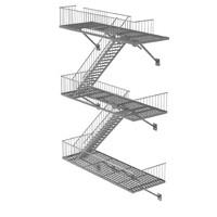 metal stairs 3d obj