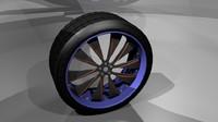 3d model car wheel 3