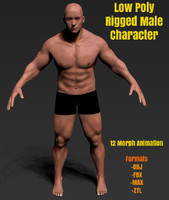 rigged male character man max