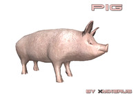 pig ready animations 3d 3ds