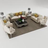 3dsmax sofa set