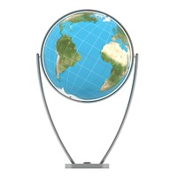 world globe 3d 3ds