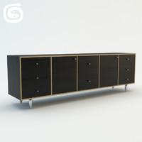 credenza sideboard 3d model