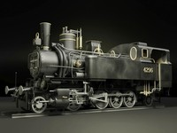 steam locomotive floridsdorf 3d model