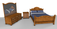 c4d traditional bedroom suite bed