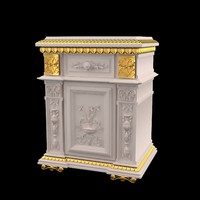 3d model of furniture classical antiquarian style
