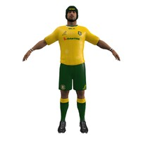 rugby player 3d model