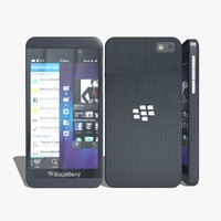 3d blackberry z10 model