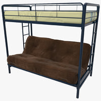 3d bunk bed dorel model