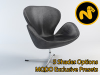 3ds max swan chair jacobsen