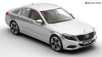 3d model mercedes s class 2014