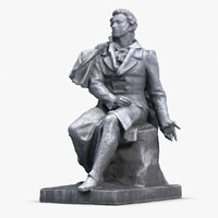 alexander pushkin scan monument 3d max