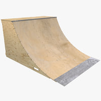 Quarter Pipe Skate Ramp