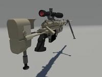 cheytac m200 intervention sniper rifle 3d max