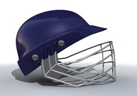 blue cricket helmet 3d c4d