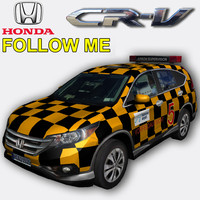 honda cr-v follow 3d model