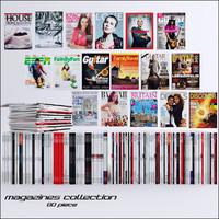 80 magazines 3d model