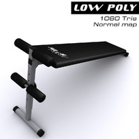 athletic bench 3d max