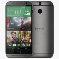 3d htc m8 gunmetal gray model