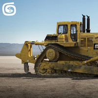 3ds max d-10 bulldozer