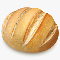 3d model bread scanline