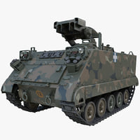 US Army Armored Vehicle M901 ITV Rigged