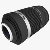zoom lens canon ef-s obj