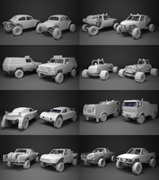 Off-road racing cars collection