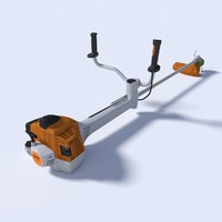 3d model brush cutter trimmer