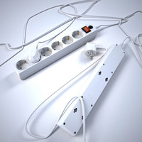 3d model power strip
