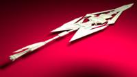 3d model sword cutting
