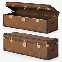 3d model mayfair steamer trunk